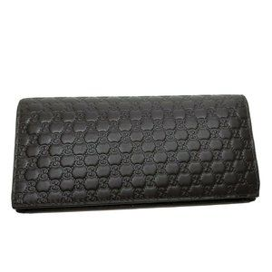GUCCI Mens WALLET Brown Leather MICROGUCCISSIMA